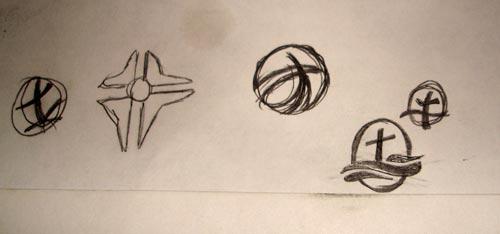 Kerwin Baptist logo design sketches