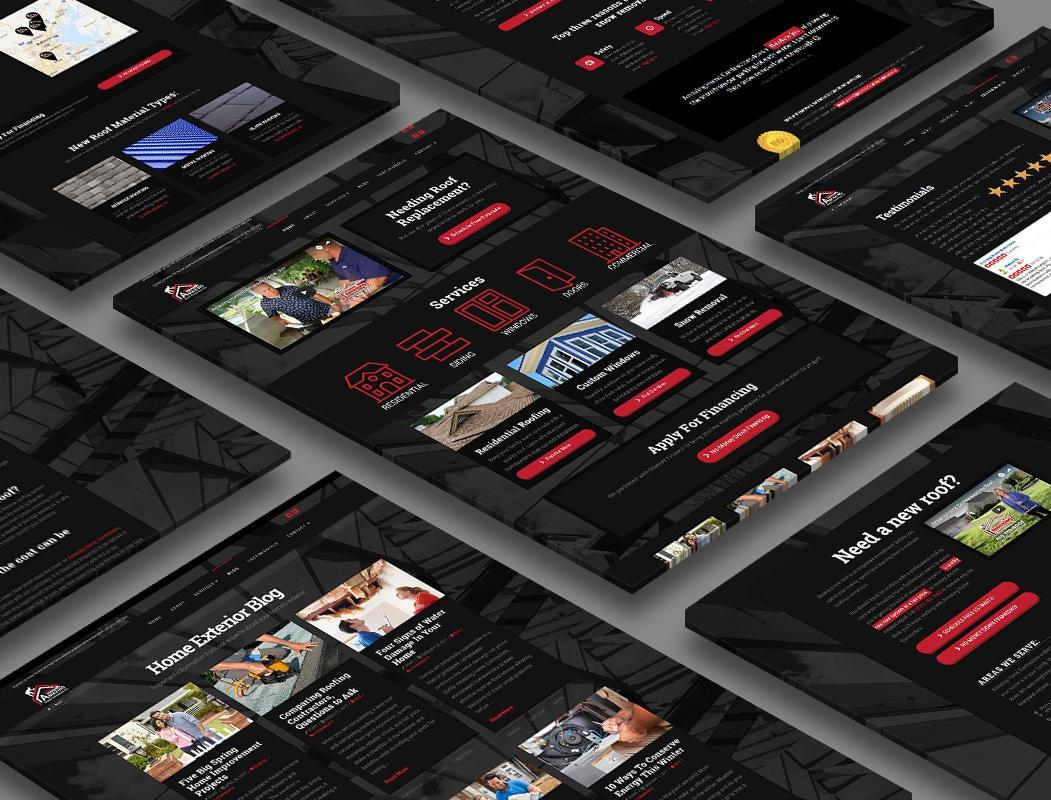 website design for Amazing Home Contractors
